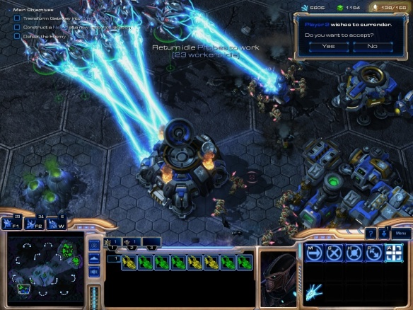 The new training mode in Starcraft 2