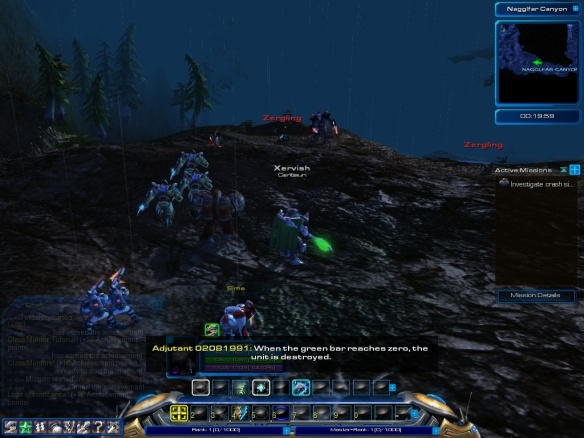 A screenshot from the fan-made Starcraft Universe MMO