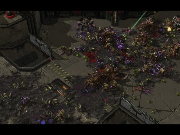 The Zerg Swarm in Starcraft II: Heart of the Swarm
