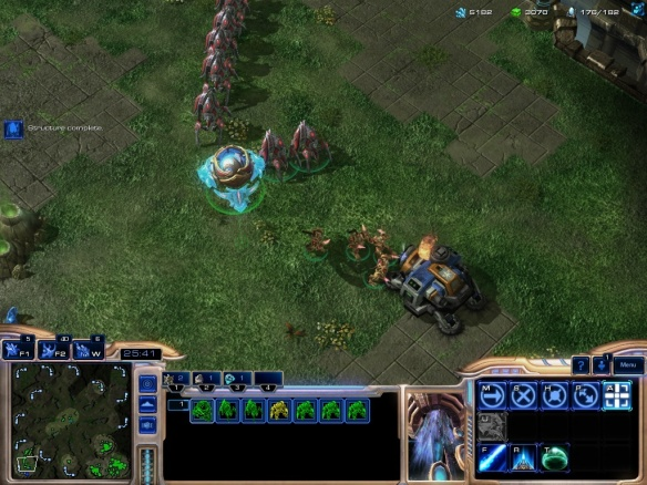 The new mothership core unit in Starcraft 2: Heart of the Swarm