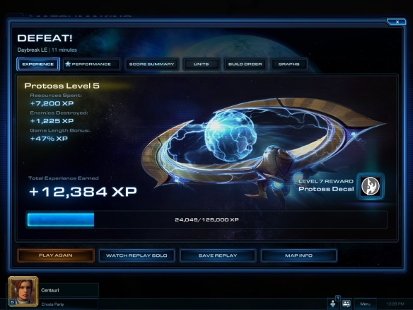 The new leveling system in Starcraft 2: Heart of the Swarm