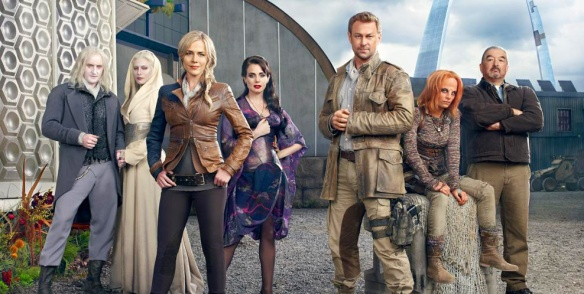 The cast of Defiance