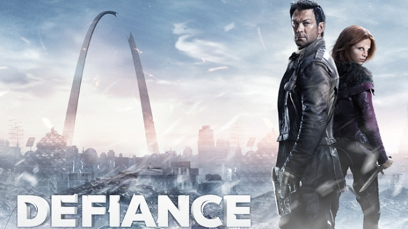 A promotional image for Defiance