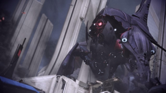A Reaper destroyer in Mass Effect 3