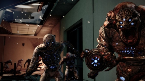 A husk and a cannibal in Mass Effect 3