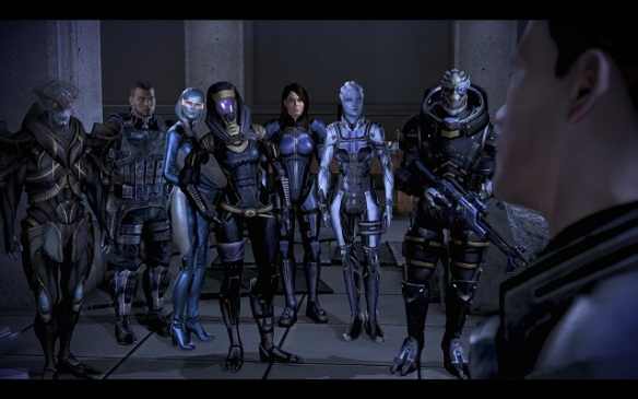 The squad members of Mass Effect 3