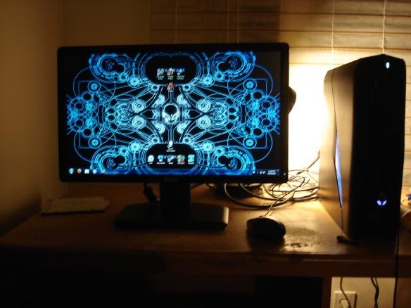 My glorious new Alienware gaming desktop