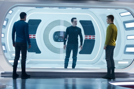 Kirk, Spock, and John Harrison in Star Trek Into Darkness