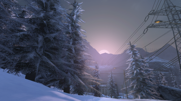 Sunrise over the Carpathian Fangs in The Secret World