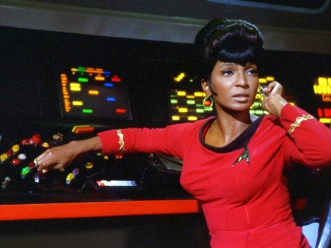 Nichelle Nichols as Lt. Nyota Uhura in the original Star Trek