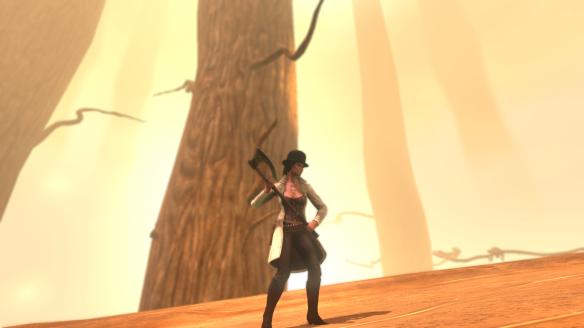 She's got an axe!