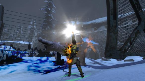 My Dragon blasting zmeu with his quantum BRACE in The Secret World