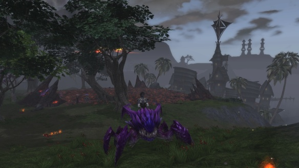 My rogue on a gulanite hellbug mount in Rift