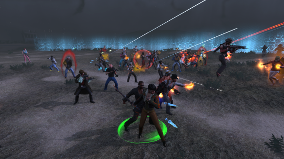 Battling one of the Guardians of Gaia during The Secret World's anniversary event