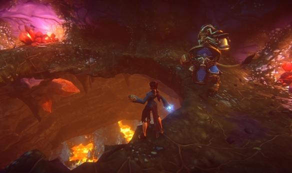An underground scene in EverQuest Next