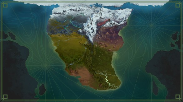 A map of Norrath from EverQuest Next