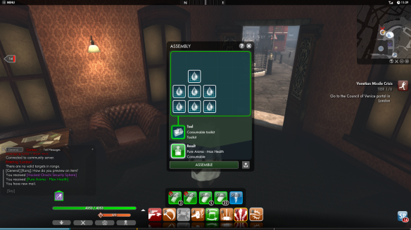 The assembly window in The Secret World