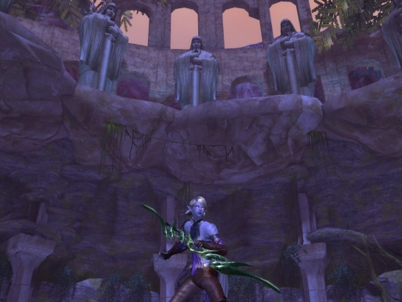 My ranger explores the ruins of Seggurheim in Aion