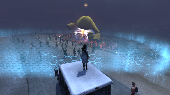 Battling Samsu Nasiru during The Secret World's Gilded Rage event