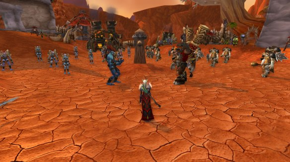 Vol'jin and Baine marshal their forces in Razor Hill prior to the Siege of Orgrimmar