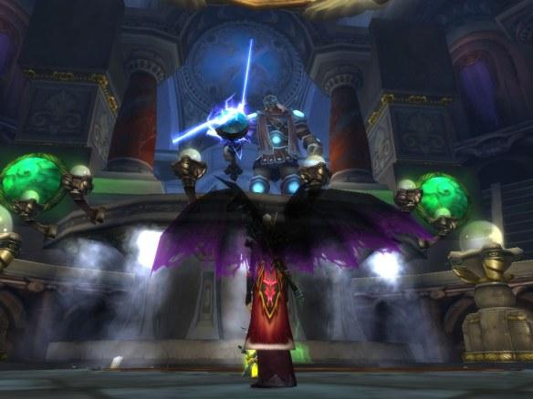 My warlock confronts Thorim in Ulduar