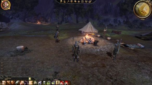 My party's camp in Dragon Age: Origins