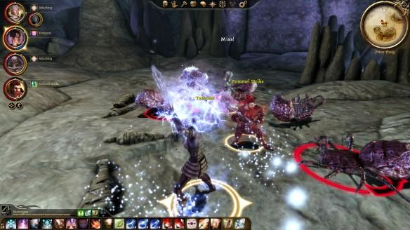 Blasting Darkspawn in Dragon Age: Origins