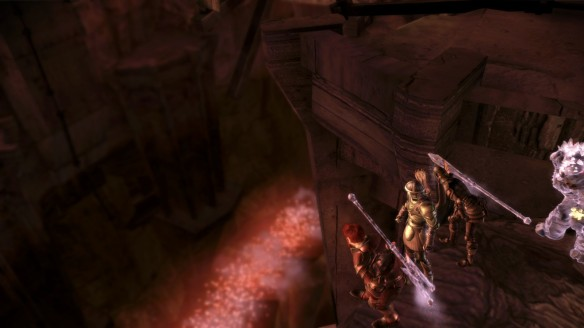 The Darkspawn march through the Dead Trenches in Dragon Age: Origins