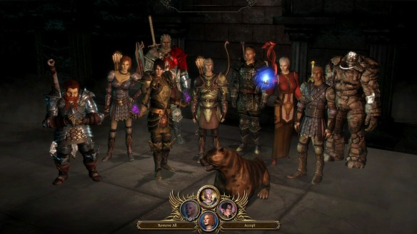 My full party in Dragon Age: Origins