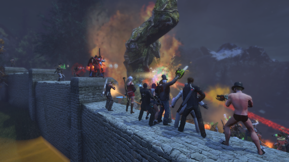 Players defend Harbaburesti during the Guardians of Gaia event in The Secret World