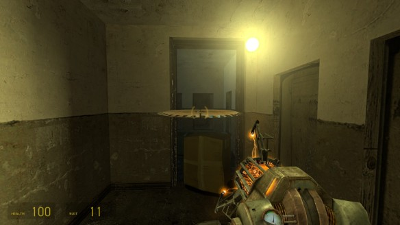 Using the gravity gun to fire a saw blade in Half-Life 2