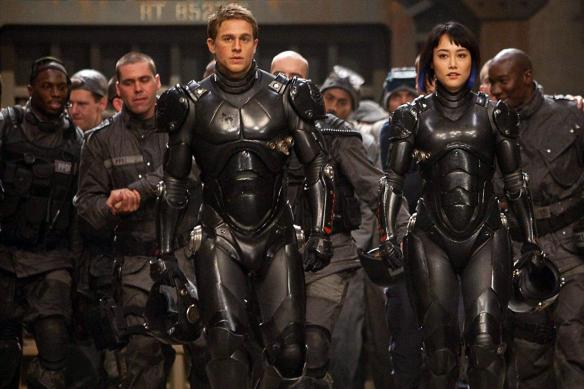 Raleigh Becket and Mako Mori in Pacific Rim