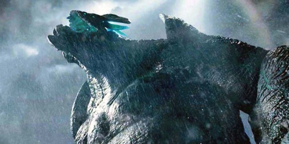 A massive Kaiju monster in Pacific Rim