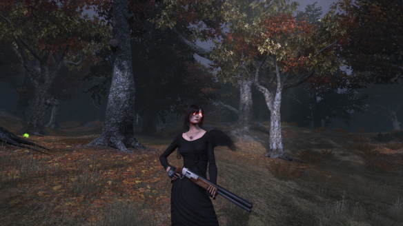 "My Templar in her ""Angel of Death"" Halloween costume in The Secret World"