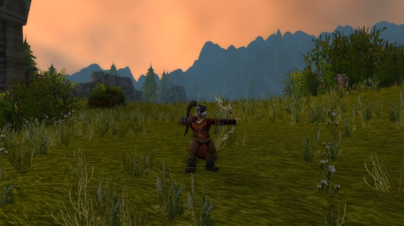 My hunter in the Arathi Highlands