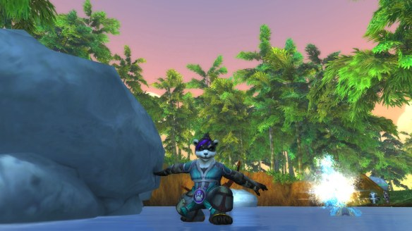 My hunter on the Wandering Isle