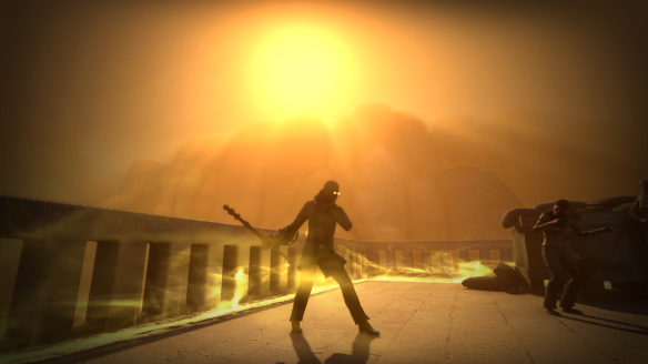 Caught in a dust storm during the Hotel scenario in The Secret World