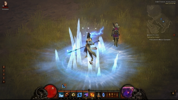 My wizard posing with Eirena in Diablo III