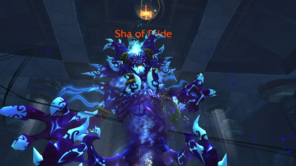 A first person view of tanking the Sha of Pride in World of Warcraft