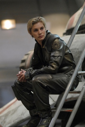 "Kara ""Starbuck"" Thrace in Battlestar Galactica"