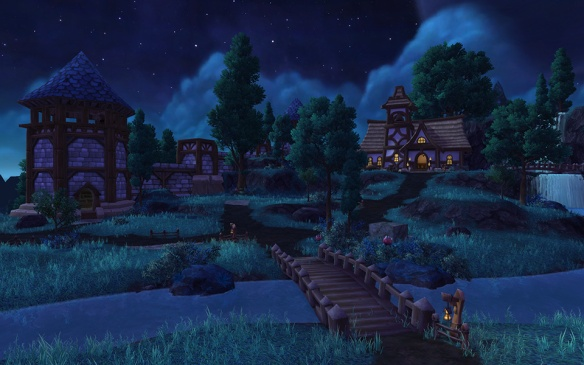 A player garrison in World of Warcraft: Warlords of Draenor