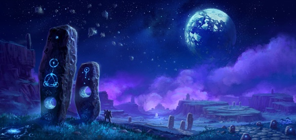 Concept art of Shadowmoon Valley for World of Warcraft: Warlords of Draenor