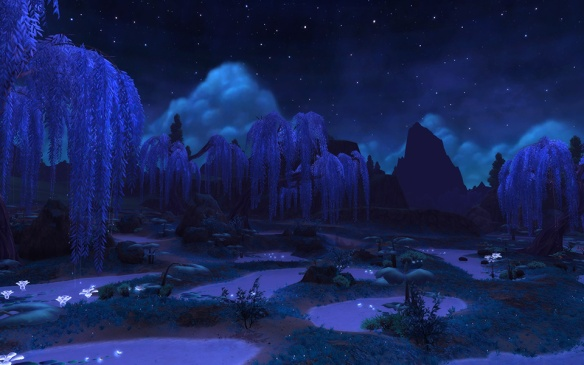 A screenshot of Shadowmoon Valley in World of Warcraft: Warlords of Draenor
