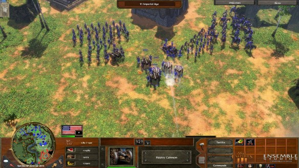 A battle in Age of Empires III