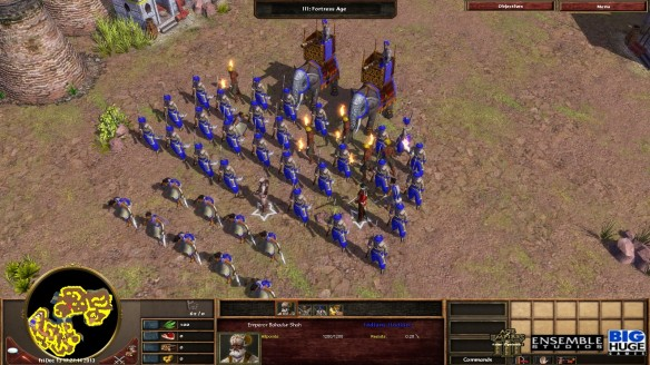 An army of Indian units in Age of Empires III