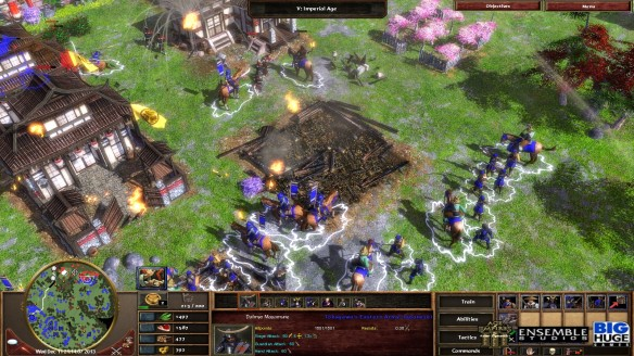A battle during the Japanese campaign of Age of Empires III