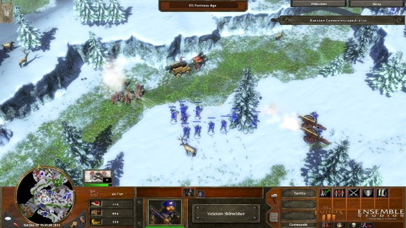 A battle in the Rockies in Age of Empires III