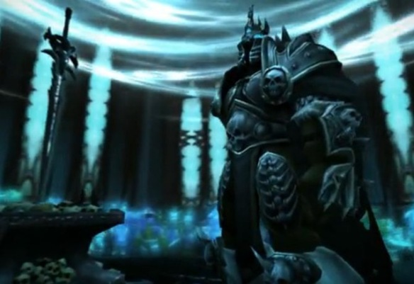 A screenshot from the Fall of the Lich King trailer