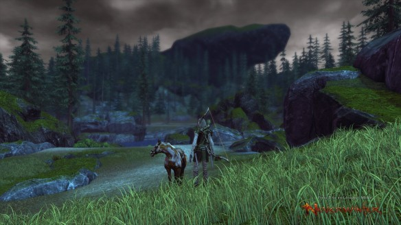 Exploring the wilderness during a Foundry quest in Neverwinter