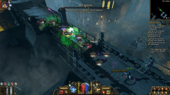 A night battle in The Incredible Adventures of Van Helsing